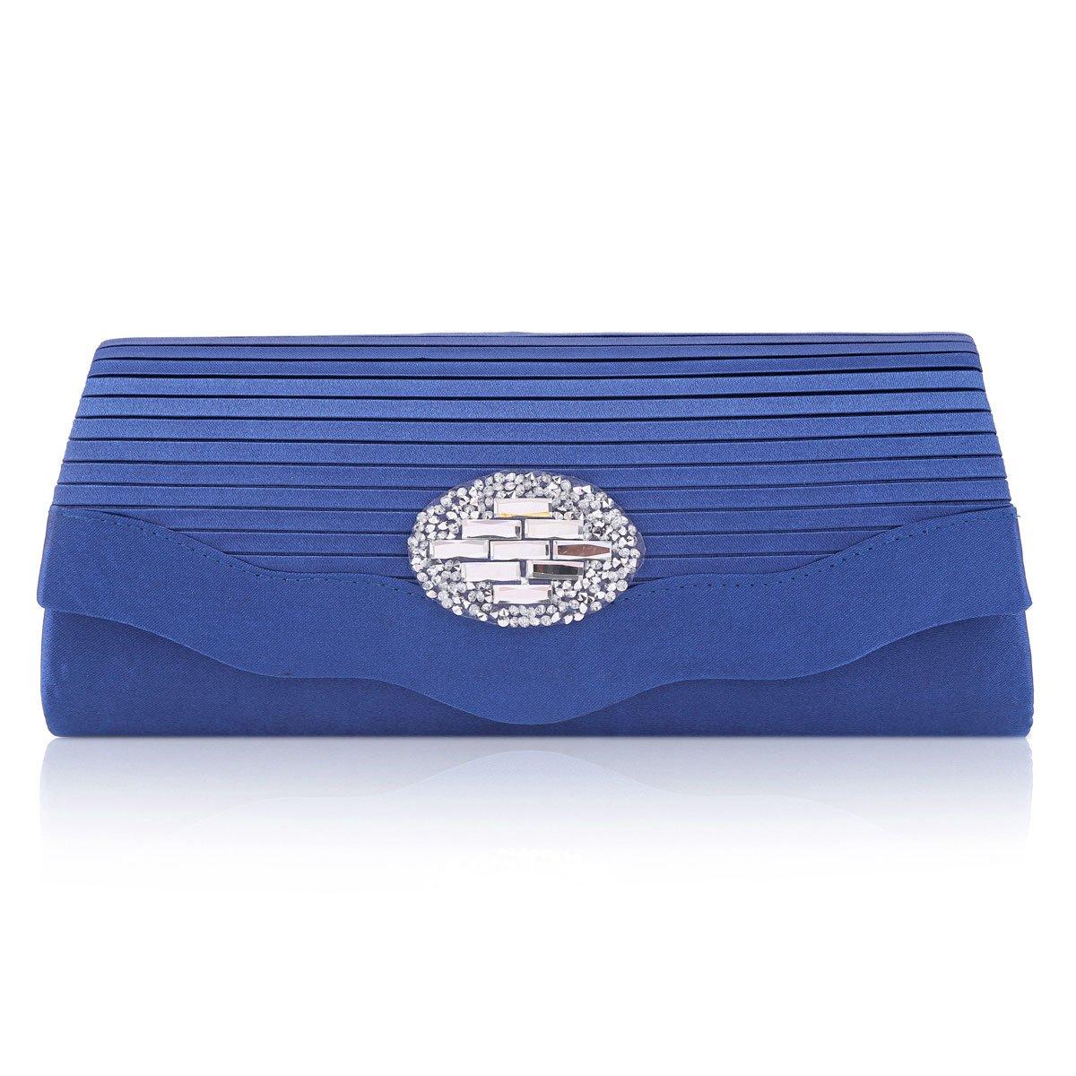 Damara Chic Boda Cartera De Fiesta Bolso De Mano para Mujer Bolso De Teléfono,Azul: Amazon.es: Equipaje