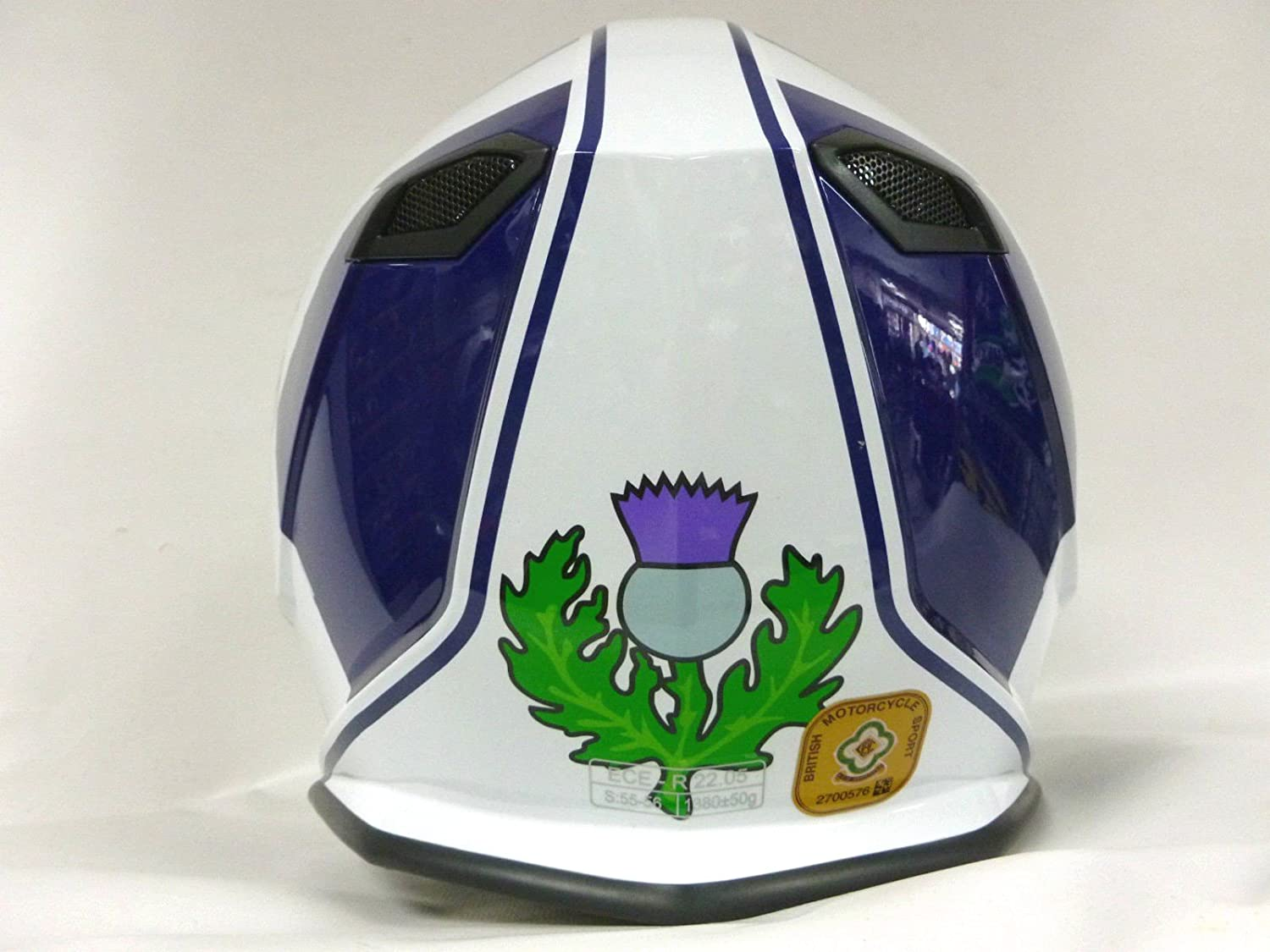 MOTORBIKE VCAN V127 SCOTLAND FLAG HELMET Motorcycle Full Face Graphic ECE ACU Gold Approved Sports Touring Scotish Helmet /& Grid Balaclava