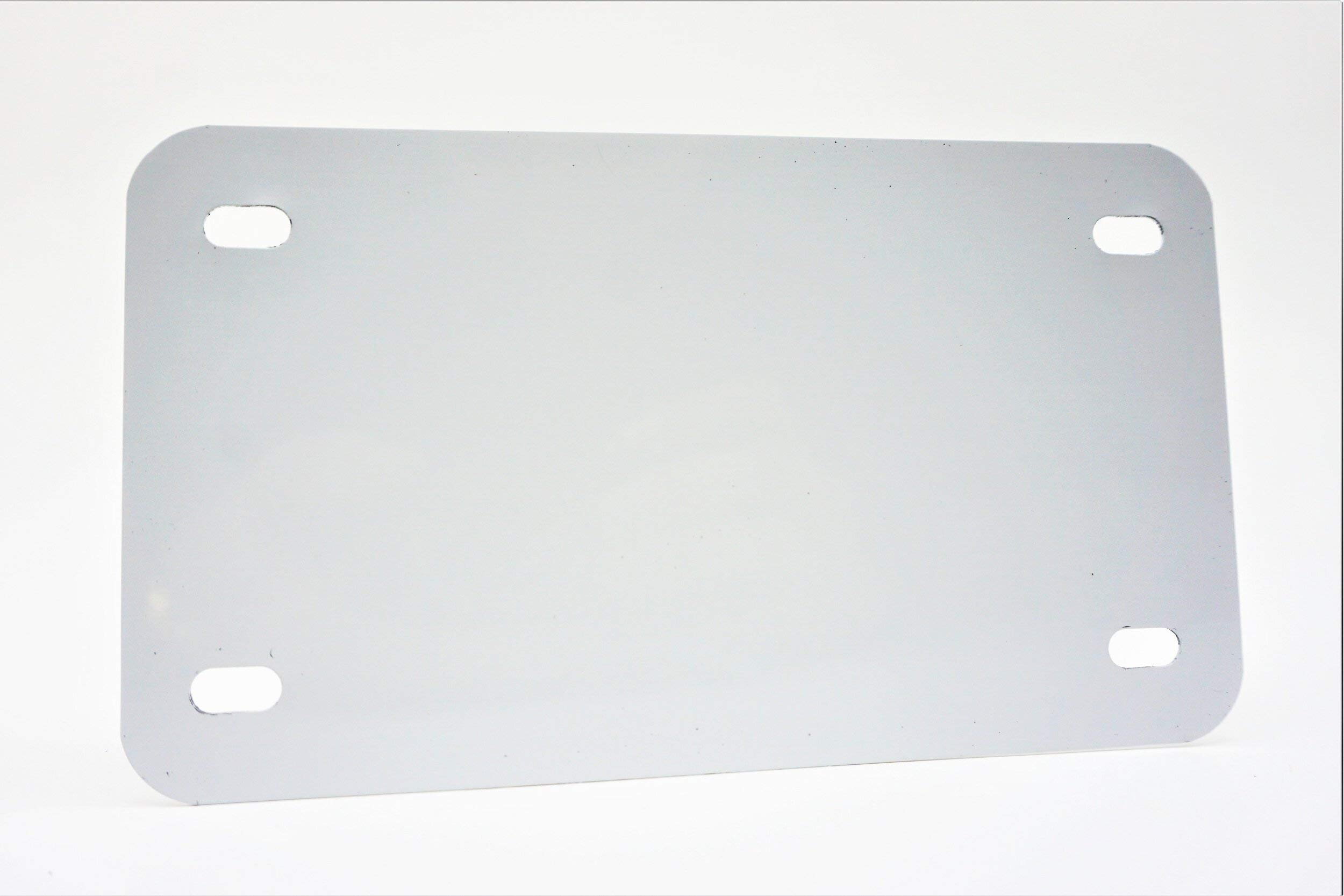 White - Motorcycle Anodized Aluminum License Plate Blank - 0.025/0.5mm - 4x7 by Partsapiens Corp.