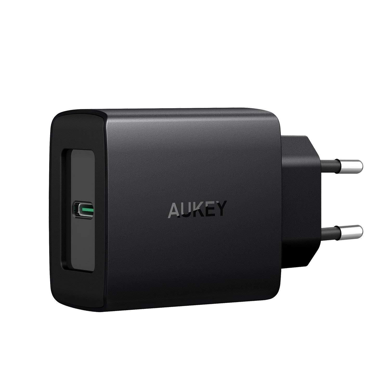 AUKEY USB C Caricabatteria da Muro con Power Delivery 3.0