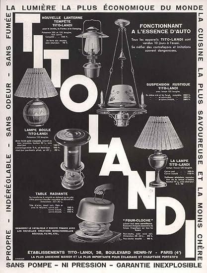 Amazon Com 1933 Print Ad Tito Landi Oil Kerosene Lamp Lantern