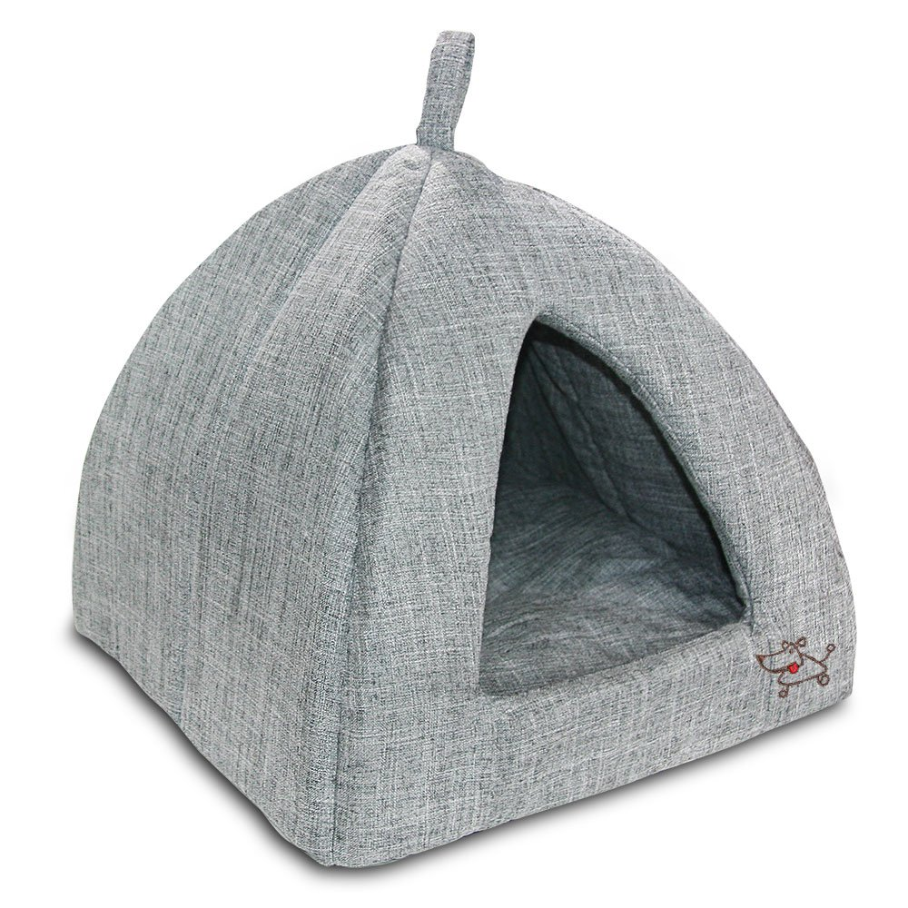 Grey Medium Grey Medium Pet Tent Soft Bed for Dog and Cat, Best Pet Supplies, Medium, Grey