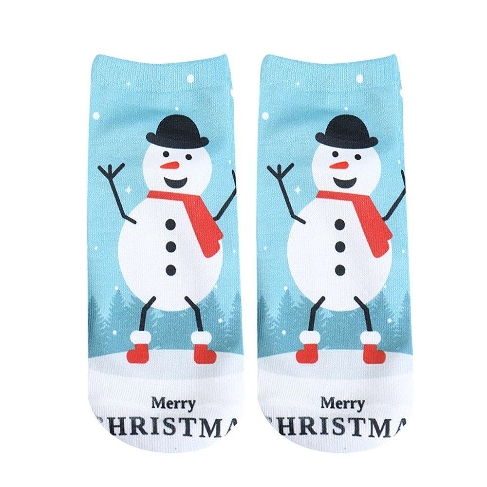 Christmas Socks For Women Size 5-6 Thin,Socks Art Paintings,Warm Socks With Grips For Women,Toddler Socks Girls,Women's Winter Gift Warm Soft Cotton Sock,G,Free Size