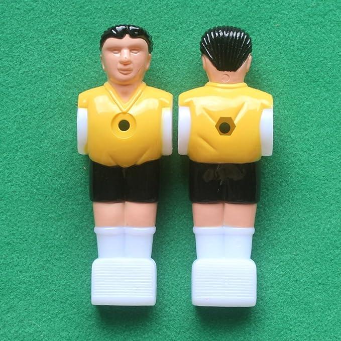 STOBOK 4 Piezas Jugador de Futbolín de Plástico para Futbolín de Mesa 1.4M (2 Piezas Amarillo y 2 Piezas púrpura): Amazon.es: Hogar