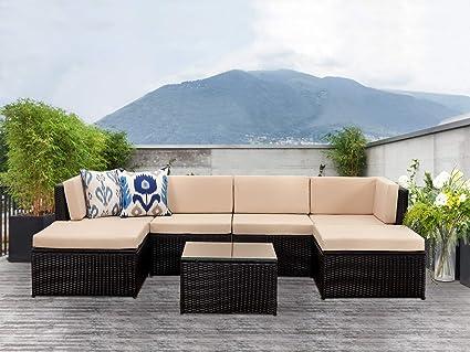 Amazon.com: Conjunto de muebles de patio al aire última ...
