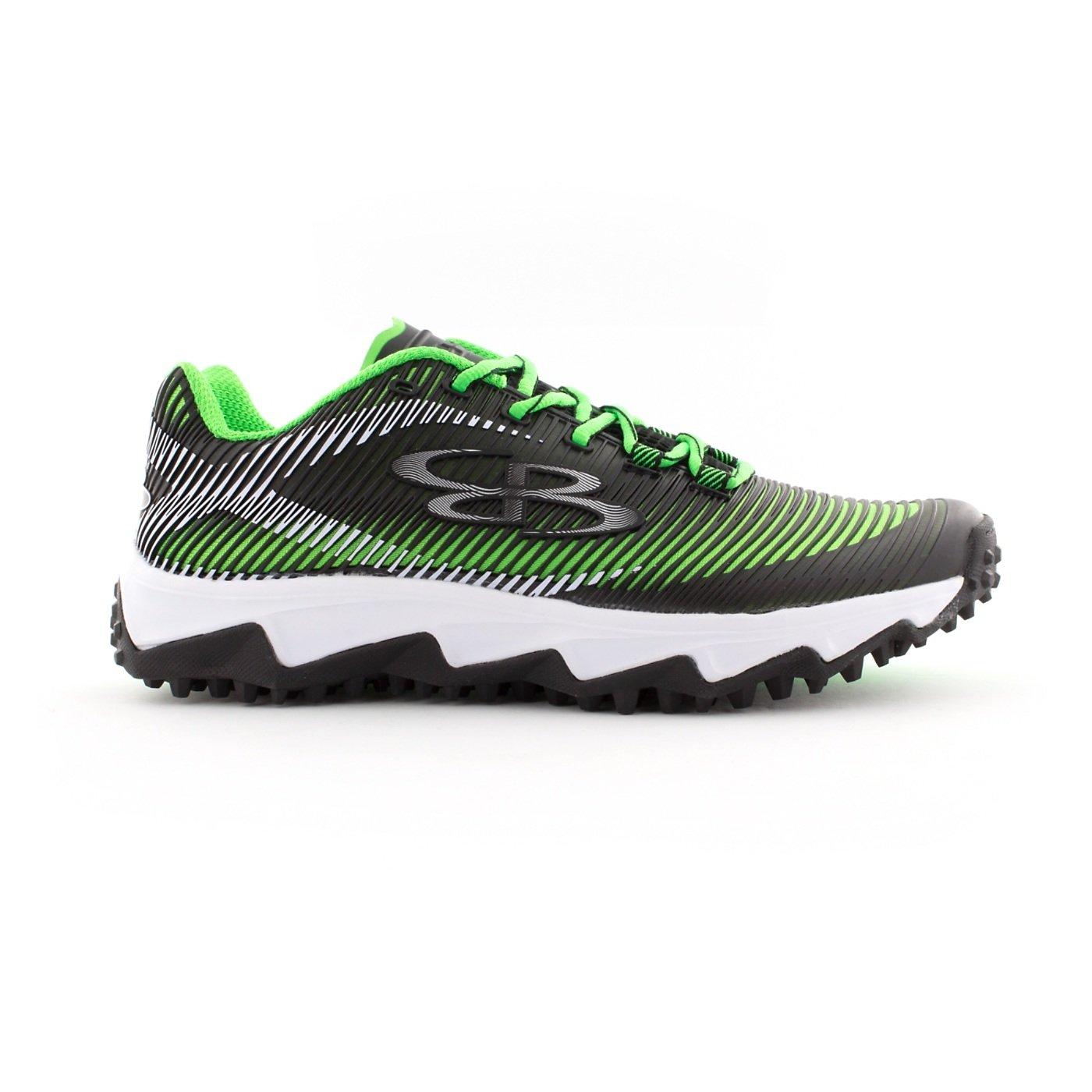 BoombahメンズAftershock DPS Turf Shoes – 18カラーオプション – 複数のサイズÉ B0767PZC5V 11.5|ブラック/ライムグリーン ブラック/ライムグリーン 11.5