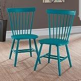 Sauder Cottage Road Slat Back Blue Chair (Set of 2)