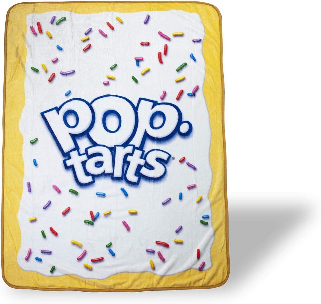 Kellogg's Pop-Tarts Pop-Tart Large Fleece Throw Blanket | Pop-Tarts Soft Blankets And Throws | Official Pop-Tarts Throw Blankets | Measures 60 x 45 Inches