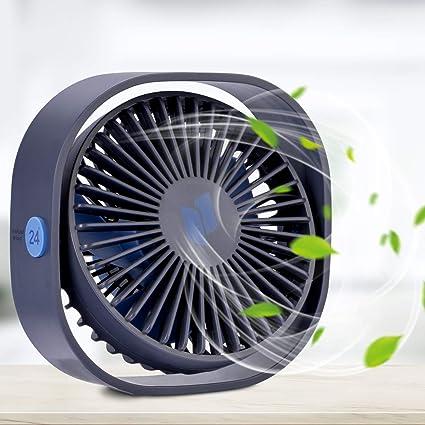 Renfox Usb Desktop Fan Mini Desk Fan Three Adjustable Speed