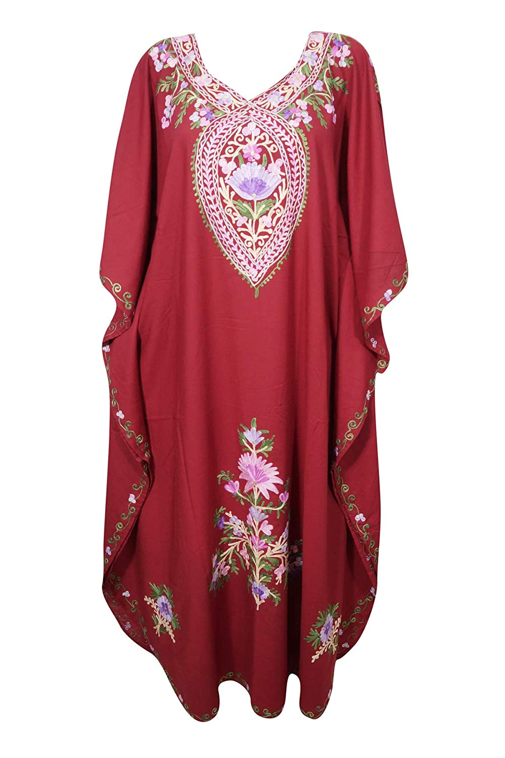 681debf7df Womens Caftan Dress Red Embellished Lounge Kaftan One Size at Amazon  Women's Clothing store: