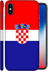 ColorKing Football Croatia 01 Multicolor shell case cover for Apple iphone X