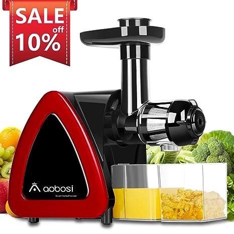 Amazon.com: Extractor de zumo de masticación lento Aobosi ...