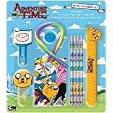 Adventure Time Deluxe Childrens Stationery Set with Bendy Rubber Back to School