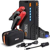 TACKLIFE T6 Booster Batterie - 600A 16500mAh Portable Jump Starter, Démarrage de Voiture ( Jusqu'à 6.2L Essence 5.0L Gazole ), Lamp LED, Deux Port de Charge, UL Certifié