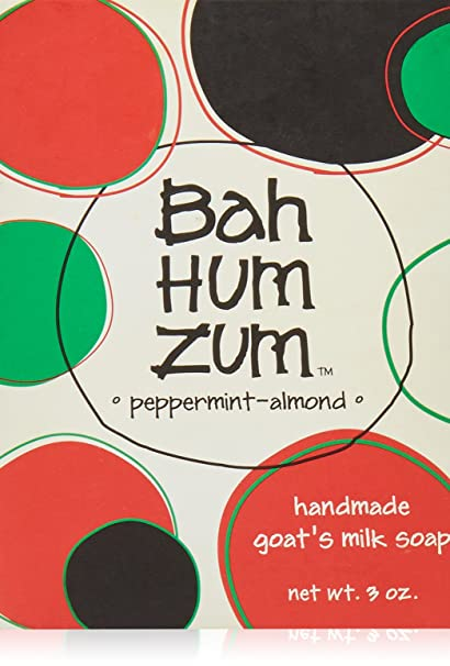 Indigo Wild - Bah Hum Zum Bar Holiday Jabón de leche de cabra Menta-almendra