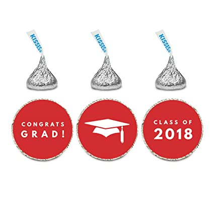 216 Hershey Kiss stickers labels personalized Graduation Grad 2017 Cap Gift