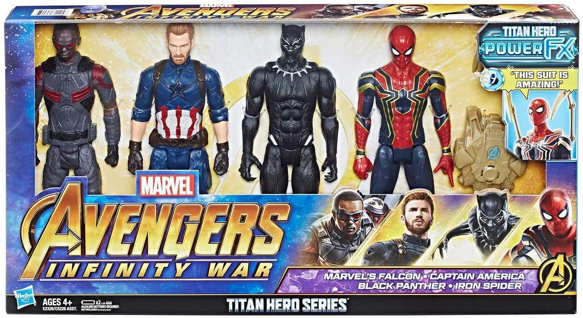 Marvel 1202129 Avengers Titan Hero Serie 4 Pack Multi: Amazon.es ...