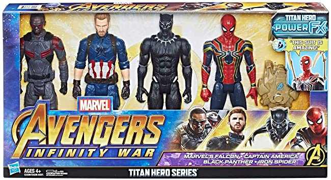 Marvel 1202129 Avengers Titan Hero Serie 4 Pack Multi: Amazon.es: Juguetes y juegos