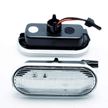 2x LED LUCES INTERMITENTES LATERALES REEMPLAZO SEAT LEON 1 2 E4 MOT TÜV ITV: Amazon.es: Coche y moto