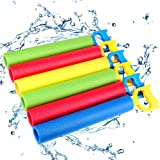 Foam Water Shooter for Kids, 6 Pack Water Guns Toys Water Blaster for Boys Girls Adults Swimming Pool Beach Summer Outdoor, W