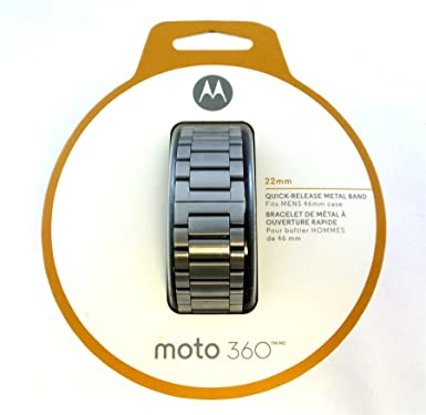 Motorola Metal 22 mm Band para Moto 360 Reloj Inteligente (2nd Gen) Plata 89856