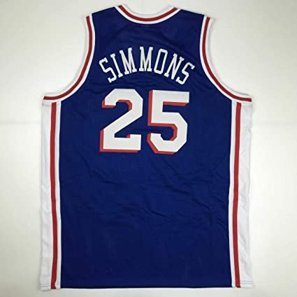 652188be6fd Unsigned Ben Simmons Philadelphia Blue Custom Stitched Basketball Jersey  Size Men s XL New No Brands
