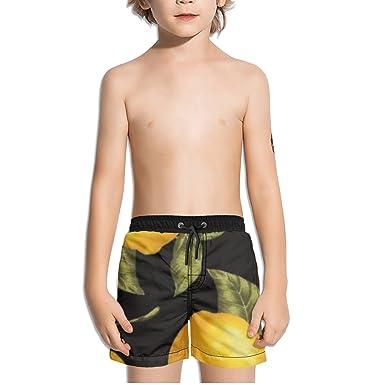 2e3932072a9d Amazon.com: Ouxioaz Boys' Swim Trunk Lemons Beach Board Shorts: Clothing