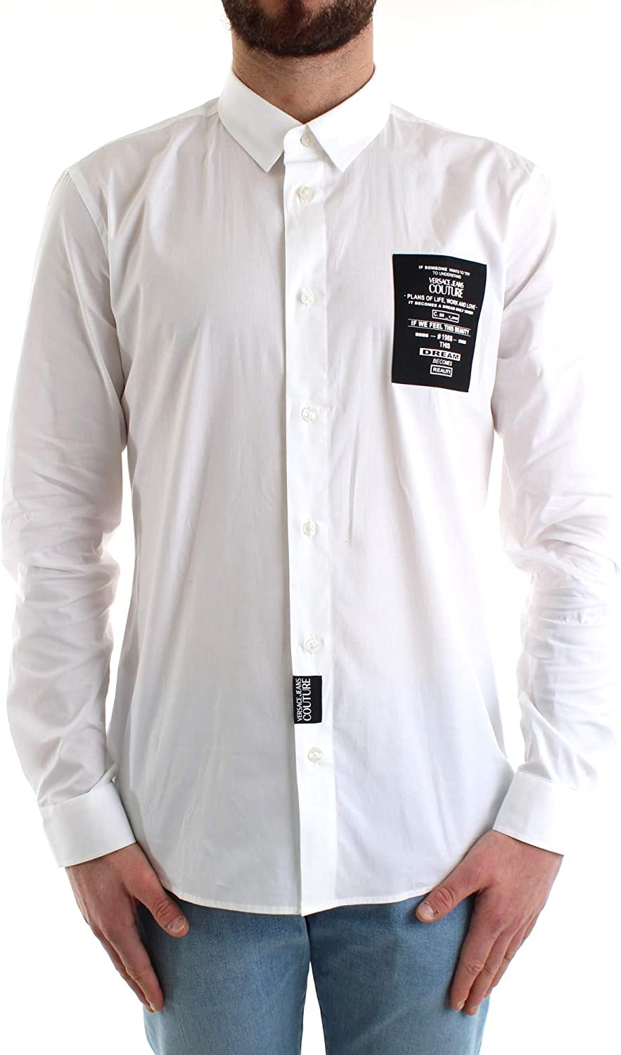 Versace Jeans Couture - Camisa B1GVB6S030205 Shirt New Stretch Basic White - B1GVB6S030205