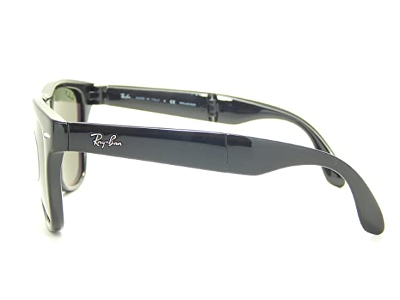 Ray Ban Folding Wayfarer RB4105 601/58 Glossy Black/Polarized Gray 50mm Sunglasses