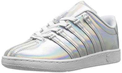 df7ace5d3a33 K-Swiss Classic VN Shine ON-K Sneaker Silver White 5.5 M US