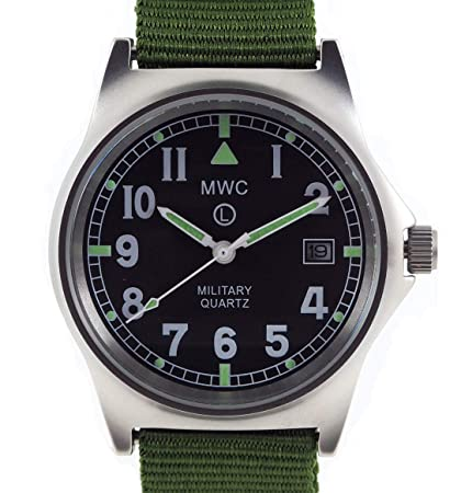 65cc1104ca4 MWC G10 LM Military Watch (Olive Green Strap) 50M  Amazon.co.uk  Sports    Outdoors