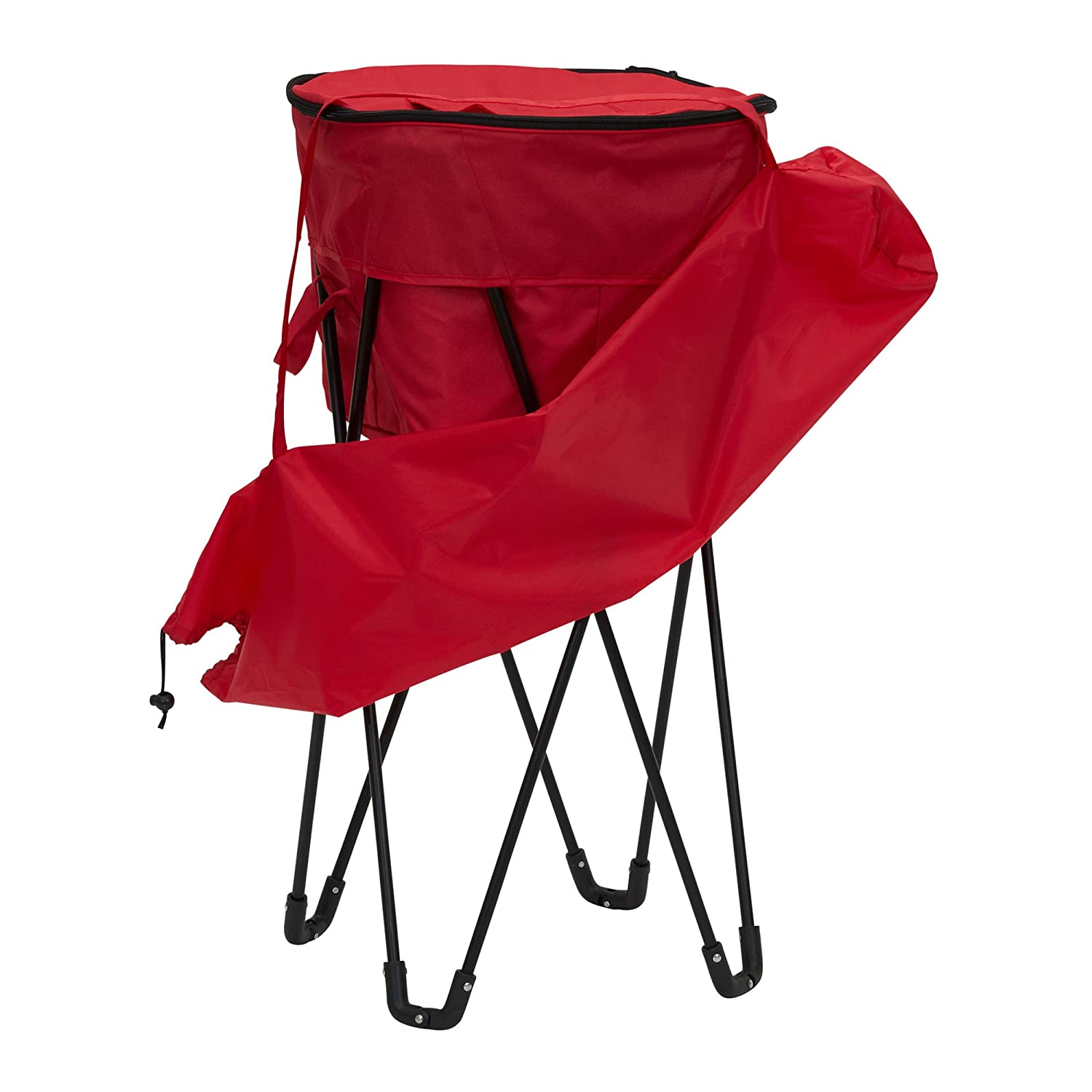 Household Essentials 2170-1 Standing Ice Cooler Red