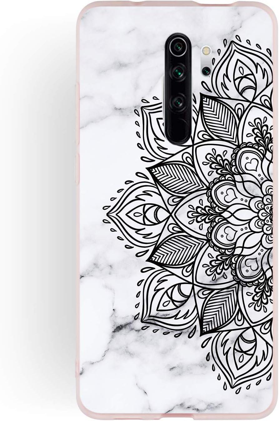 Biene HopMore H/ülle f/ür Xiaomi Redmi Note 8 Pro Marmor Weich Silikon Redmi Note 8 Pro Handyh/ülle Stein Marble Muster Schlank Wei/ß Handytasche Transparent Bumper Soft Schutzh/ülle Sto/ßfest D/ünn Cover