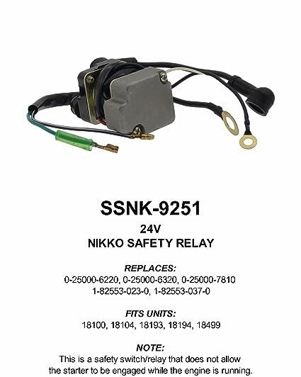 Amazon.com: New Premium 24V Nikko Solenoid Control Relay 5 Terminal on