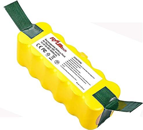 FLYLINKTECH 14.4V 4500mAh Ni-MH Aspiradoras de Repuesto Batería para iRobot Roomba 500 600 700 800 Series 530 531 532 535 536 540 550 552 560 570 580 595 620 650 660 760 770 780 790 870 980: Amazon.es: Hogar