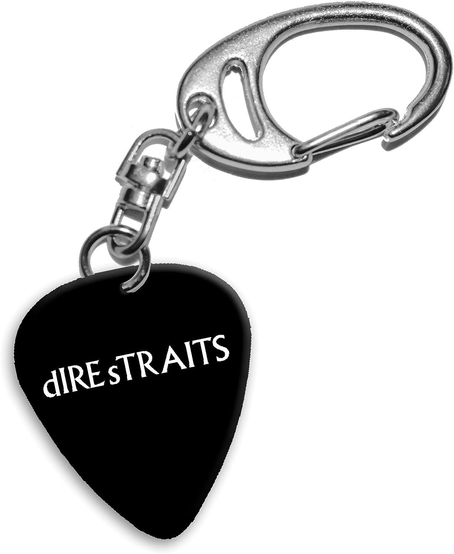 Dire Straits Mark Knopfler Band Logo Llavero de púa de guitarra (H ...