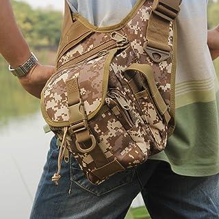 douself® Bolsa de Bengala–Bolsa de caña de pesca bolsas de herramientas bolsa de talla Multifunction Sports en plein air Camping senderismo alpinismo couleur de terre Lixada