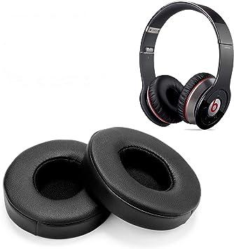 Reemplazo de Almohadillas, WADEO 2 Piezas Cojín de Almohadillas de Espuma para Beats Solo 2.0 Auriculares con Cable/inalámbricos(Negro-Inalámbrico): Amazon.es: Electrónica