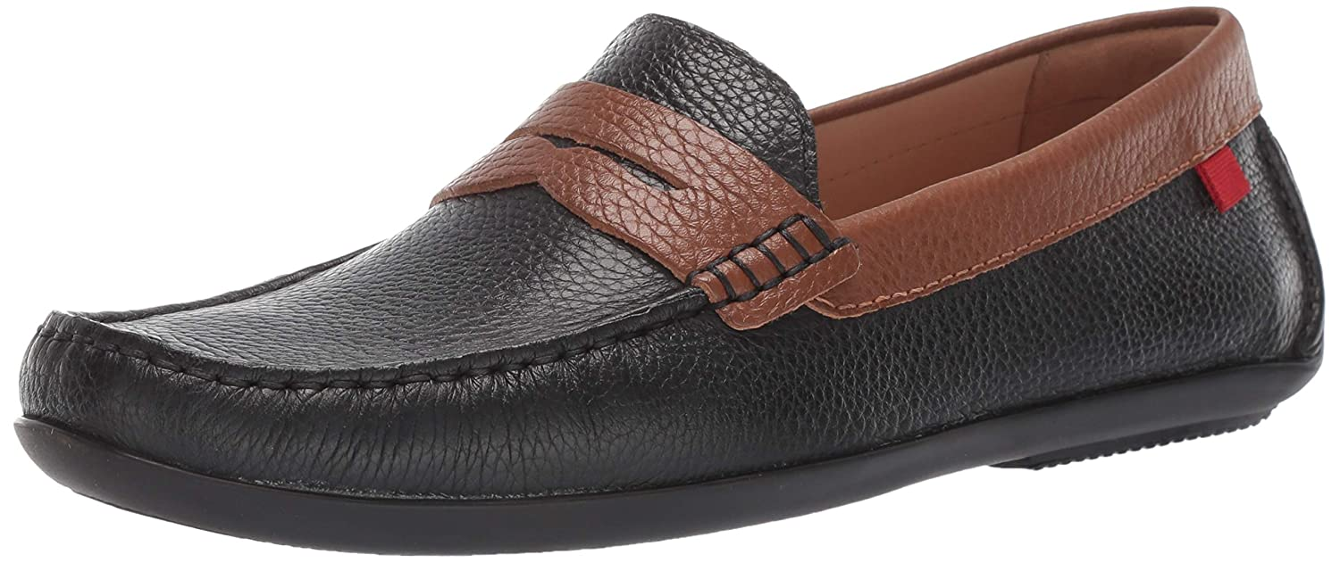Black Grainy Cognac MARC JOSEPH NEW YORK Mens Mens Genuine Leather Union Street Driver Loafer