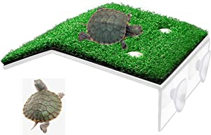 "HFBlins Small Turtle Basking Platform, Tortoise Ramp Reptile Ladder Resting Terrace Fish Tank Aquarium Turtle Dock Floating Décor for Small Reptile Frog Terrapin (7.87"" X 4.72"" X 1.57"")"