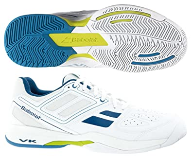 Babolat Pulsion BPM All Court Mens Tennis Sneakers/Shoes-White-4