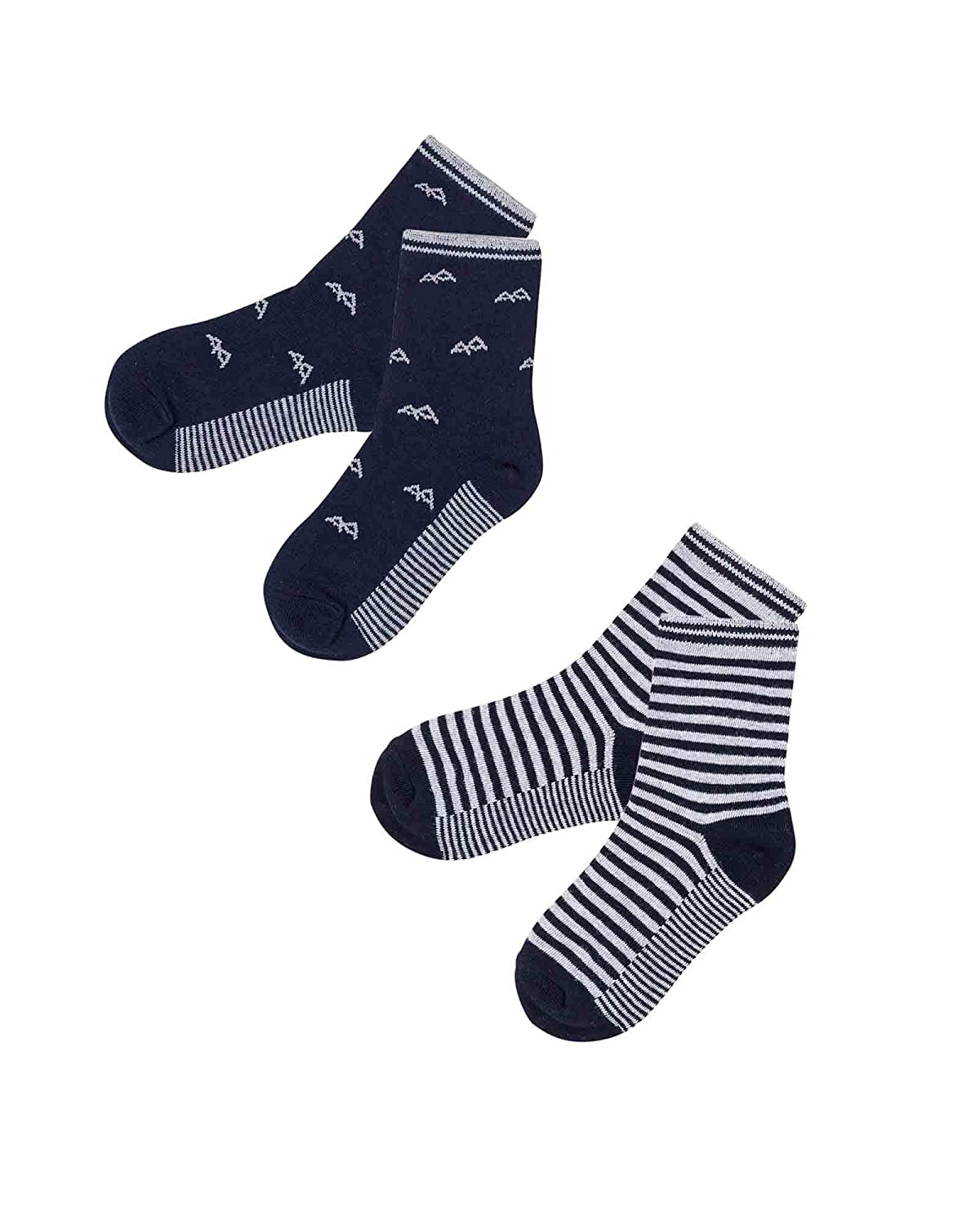 Sizes 5-12 Deux par Deux Boys Socks Blue Mountains