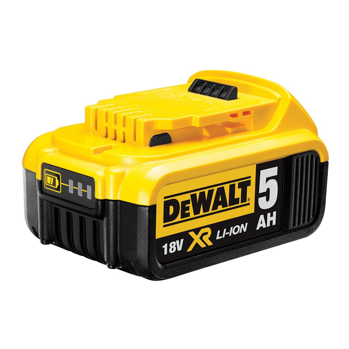 Dewalt DCB184 5.0AH LI-ion XR Slide Pack Battery, 18 V, Black/Yellow DCB184-XJ