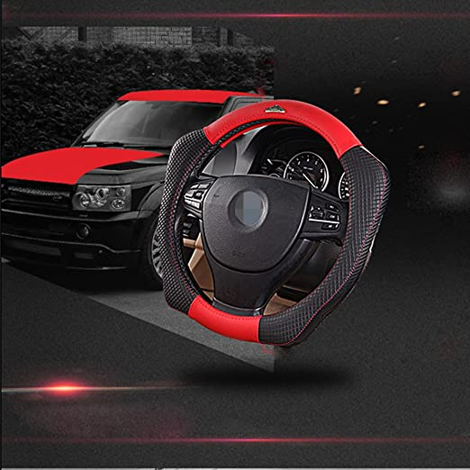 Amazon.com: Cdycam Anti-Slip Microfiber Leather Car Steering Wheel Covers, Auto Wheel Wrap 4 Angle Help Turning Operation 15 inch Universal (Red): ...