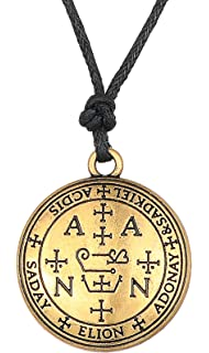 Dawapara Gothic Sigil of Archangel Uriel Chain Talisman Amulet Angel Rope Chain Vintage Jewelry for Men