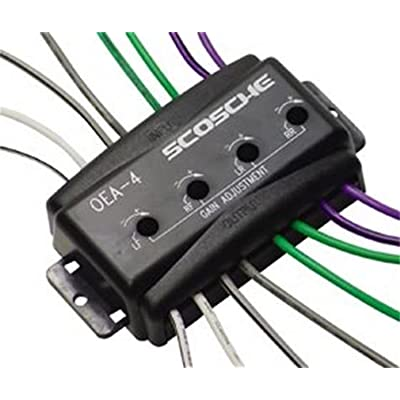 Scosche Oea4 4-Channel Adjustable Factory Amplifier Interface: Car Electronics
