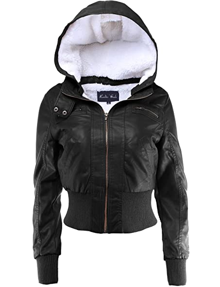 Ladies' Code Women's Fur Lined Sherpa Faux Leather Jacket w ...