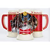 Budweiser 2020 Clydesdale Holiday Stein - Brewery Lights - 41st Edition - Ceramic Beer Mug - Christmas Gifts for Men, Father,