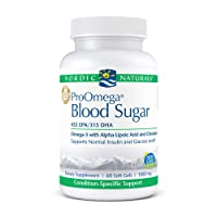 Nordic Naturals ProOmega Blood Sugar - Fish Oil, 455 mg EPA, 315 mg DHA, 200 ug Chromium, 300 mg Alpha-Lipoic Acid, Supports Normal Insulin and Glucose Levels*, 60 Soft Gels