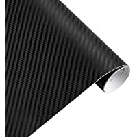 XFC-Covers, 30cmx127cm 3D Carbon Fiber Vinyl Car Wrap Sheet Roll Film Car Stickers And Decals Motorcycle Car Styling Accessories Automobiles (Color Name : Black)